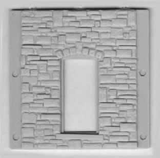 Stone Wall Section with Large Window Opening ~ HO Scale